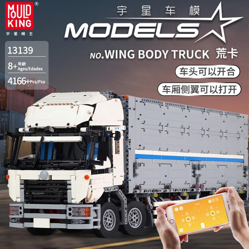 RC Technic Series The Arakawa Moc Tow Wing Body Container Truck Tatra Building Blocks Bricks Compatible Legoing 1389 Toys 23008