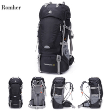 Free Knight 60L Waterproof Hiking Backpack Climbing Bags Rucksack with Rain Cover Sport Outdoor Bag Trekking Tactical Backpack