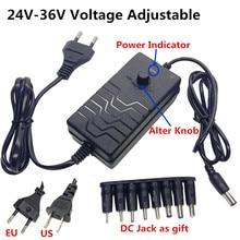 Adaptador universal ajustável da fonte de alimentação do interruptor da c.c. da c.a. regulado 24v 25v 26v 27v 28v 29v 30v 31v 32v 33v 34v 36v adaptador