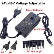 Regulowany uniwersalny AC DC przełączania Adapter do zasilacza regulowany 24V 25V 26V 27V 28V 29V 30V 31V 32V 33V 34V 36V Adapter