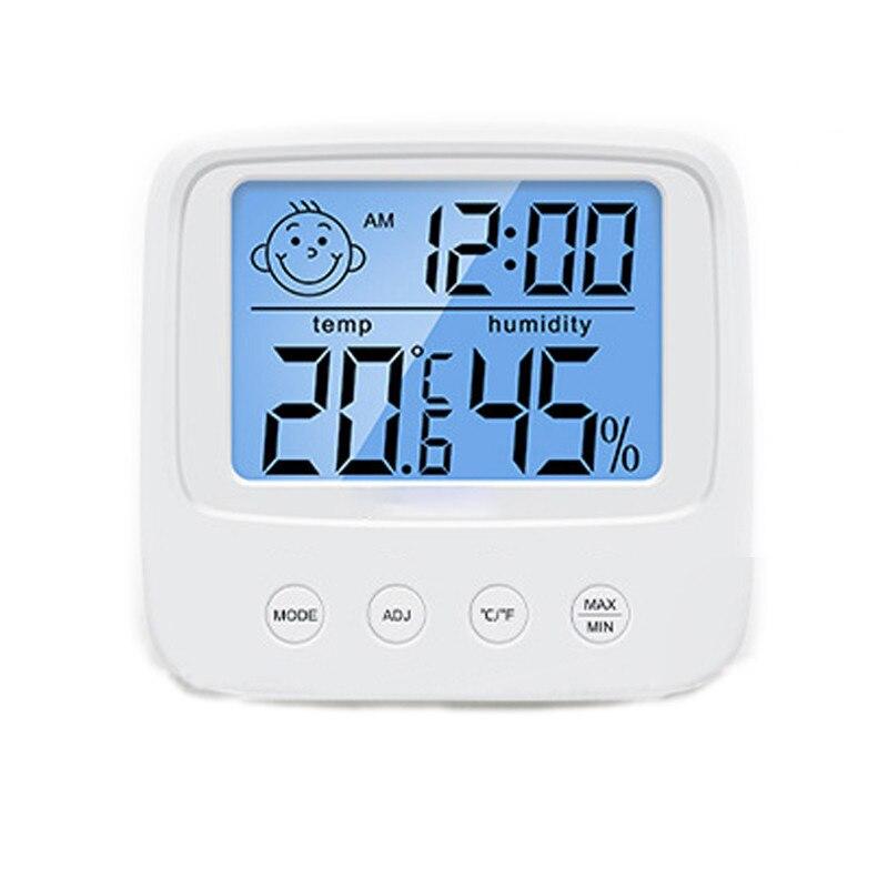 Цифровой измеритель температуры и влажности с ЖК-дисплеем, домашняя Электронная метеостанция с подсветкой, гигрометр, термометр для детско...