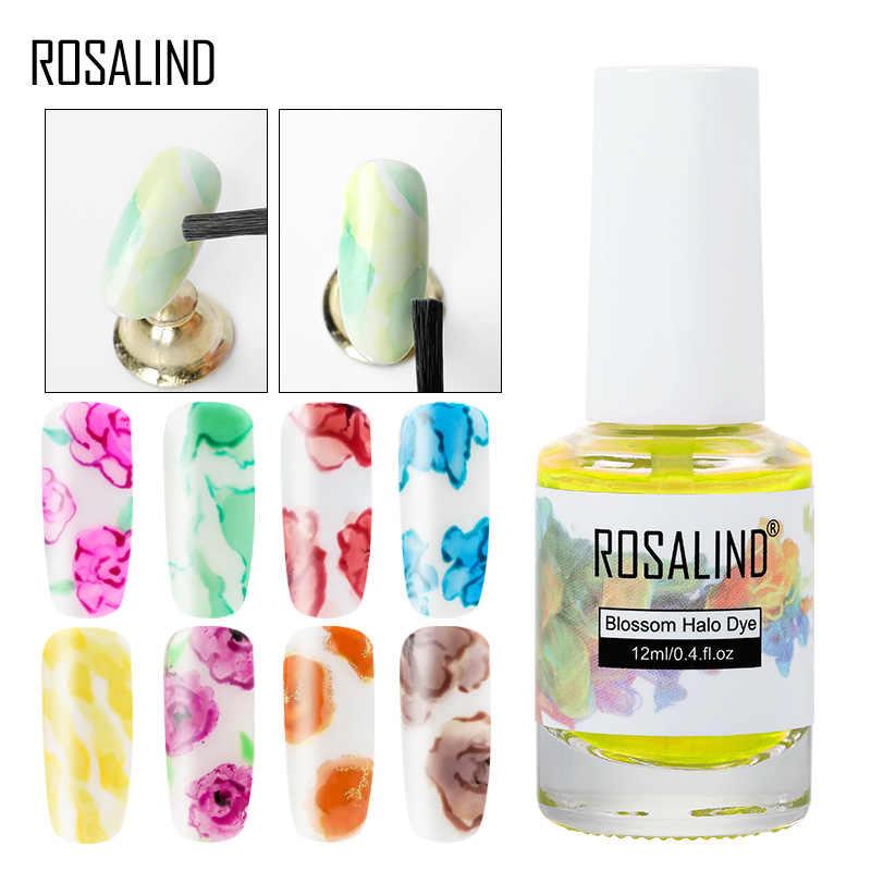 Rosalind tinta de unha coloração padrão de mármore líquido pintado água tingimento fumaça líquida luz de coloração fototerapia cola tslm2