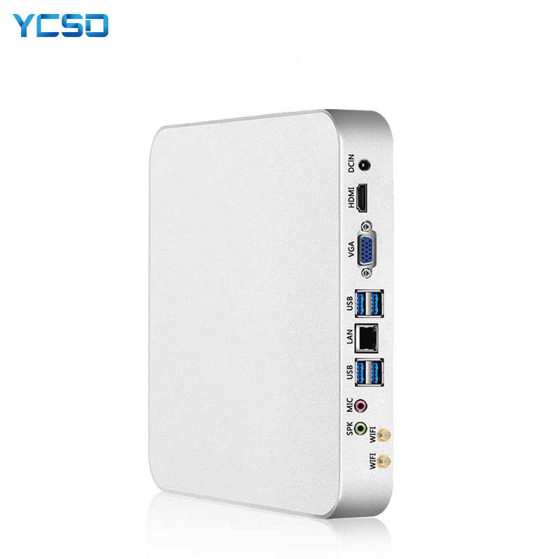 Ycsd mini pc intel core i7-4500U windows 10 8gb ram 480gb ssd 300mbps wifi gigabit ethernet 4k uhd hdmi vga 6 * usb