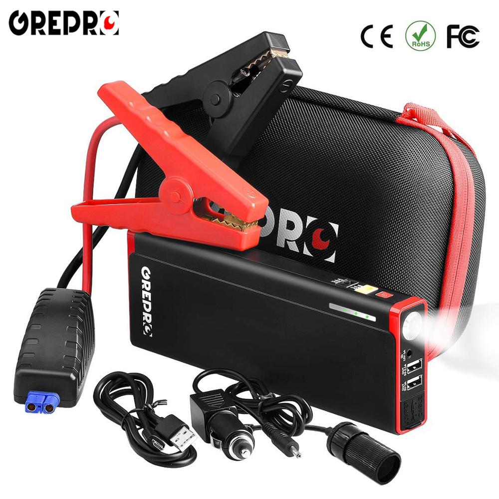 GREPRO Jump Starter 2000A Car Jump Starter 12V Vehicle Buster Booster Starting Device Auto Emergency Start Battery Power Bank