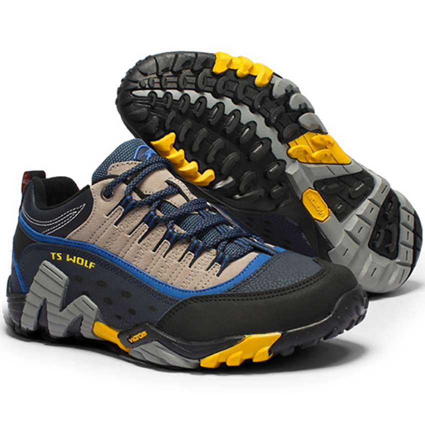 Sneakers Trekking-Shoes Climbing Outdoor Hunting Sport Breathable Waterproof Genuine-Leather