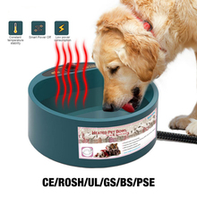 Dog Bowl Heating Feeding Feeder Water Bowl Pet Cat Puppy Winter Automatic Heated Holding Food Container For Pets Dogs Product