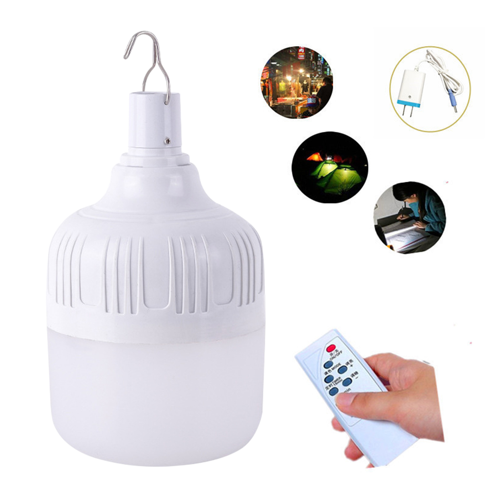 Outdoor Bulb USB RC Rechargeable Led Emergency Lights Portable Tent BBQ Take Refuge Lamp Camping Light For Patio Porch Garden