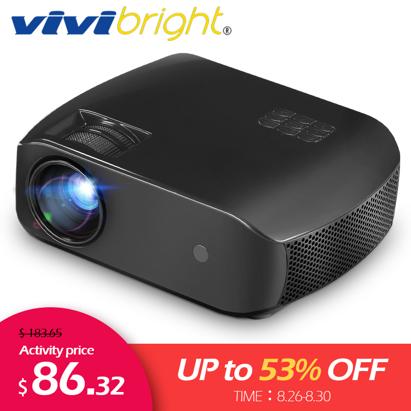 VIVIBRIGHT LED Projector Laser-Tv Bluetooth MINI Android Lumens Full-Hd 3D HDMI F10 2800