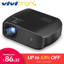 VIVIBRIGHT LED Projector F10,Android 7.1,WIFI Bluetooth,Newe
