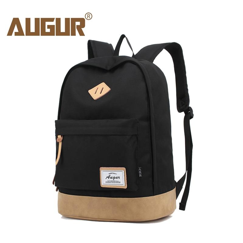 AUGUR Men Women Backpack School Bag For Teenagers College Waterproof Oxford Travel Bag 15inch Laptop Back Packs Bolsas Mochila
