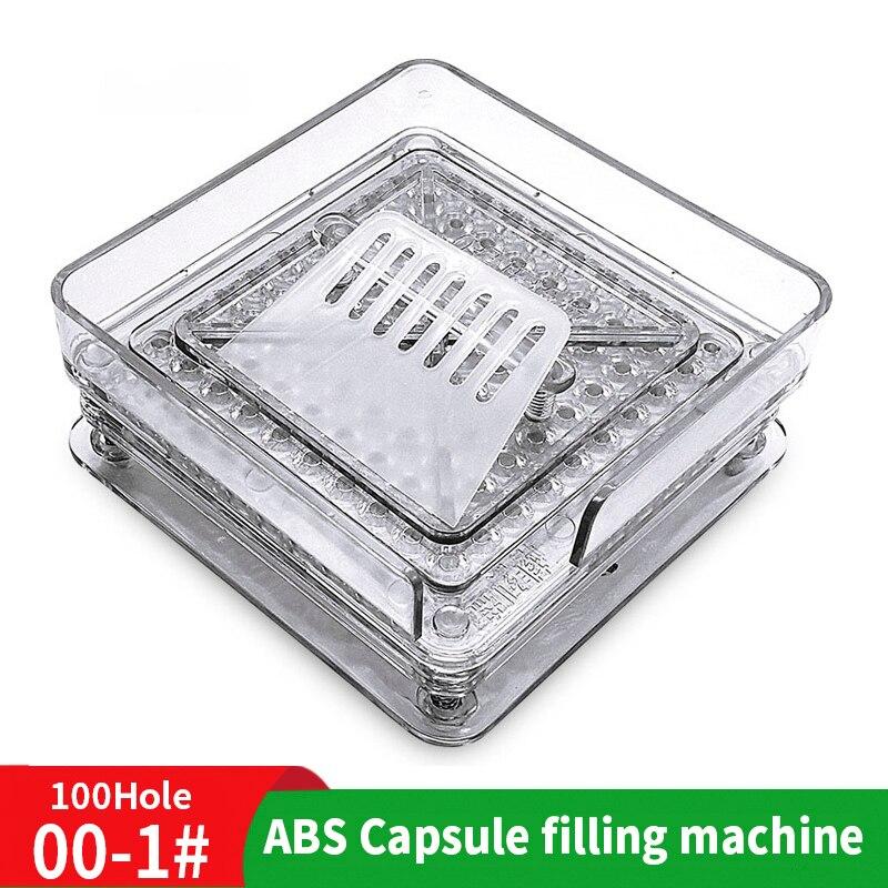 000 #100 agujero ABS Manual cápsula tablero 00 # máquina de llenado de polvo máquina de llenado fabricante de medicina tablero para rellenar