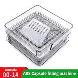 000 #100 loch ABS Manuelle Kapsel Bord 00 # Füllung Maschine Pulver Füllung Maschine Hersteller Medizin Füllung Bord
