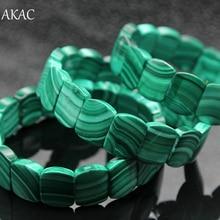Бесплатная доставка 100% натуральный зелёные малахитовые браслет для женщин approx12 * 15*5 мм