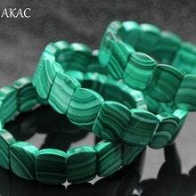 Il trasporto libero 100% naturale verde malachite donne del braccialetto del braccialetto approx12 * 15*5 millimetri