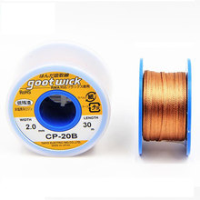 Original Japan GOOT Desoldering Wicks Braid Copper Wire Solder Remover BGA Solder Wick RoHs Lead-free MSDS Welding Tools