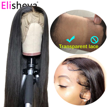 HD transparent lace straight wig glueless lace front human