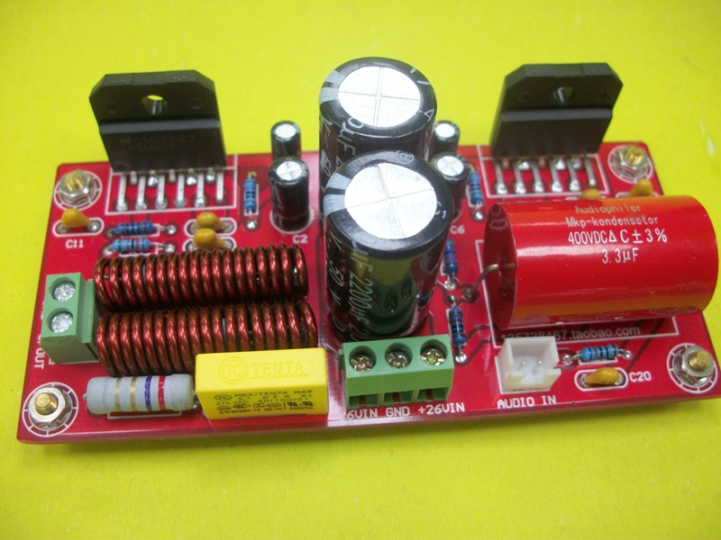 LM3886 Power Amplifier Parallel-type Enthusiast Module Mono Home HIFI Finished 130W Power Amplifier Board