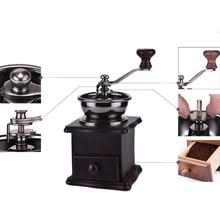 Coffee Grinder Machine Manual Hand Grain Wood