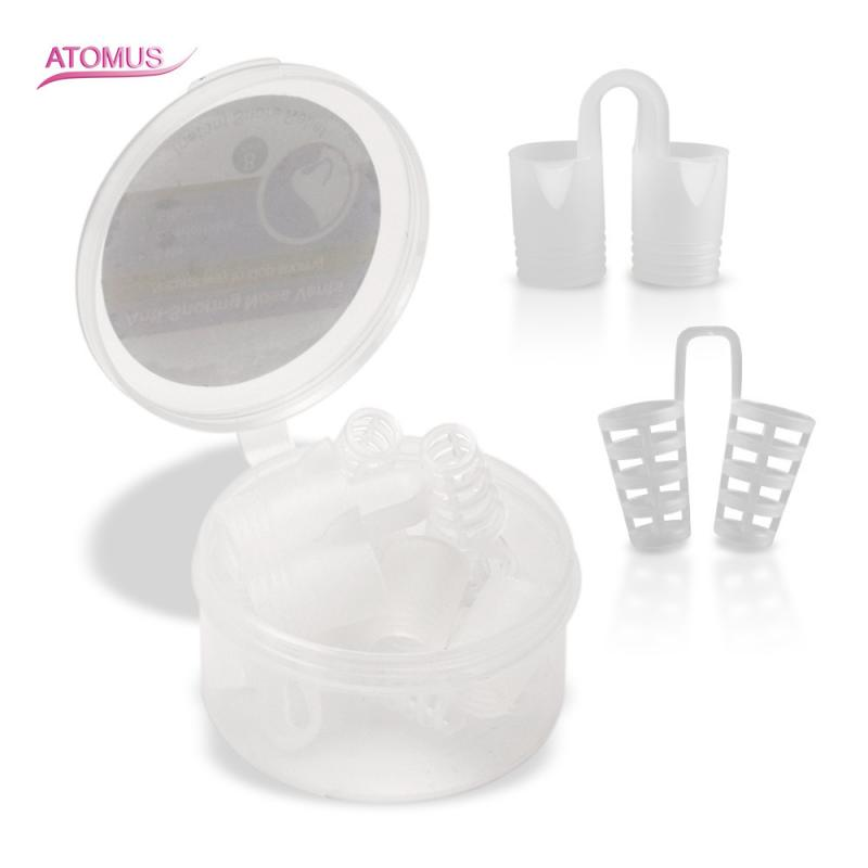 8pcs Healthy Sleeping Care Aid Equipment Stop Snoring Anti Snore Apnea Nose Clip Anti-Snoring Breathe Aid Stop Snore Device Tool