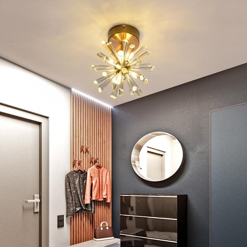 luminaria de cristal para teto lustre moderno 04