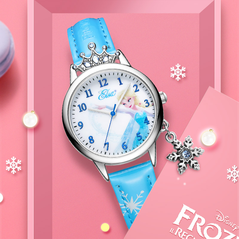 Ladies Luxury Bling Crystal Diamond Snowflake Pendant Soft PU Band Watch Women Fashion Casual Watch Girl Clock Student Time Top