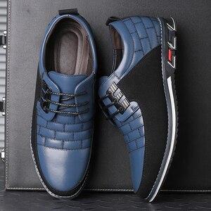 Image 5 - גודל גדול באיכות גבוהה נעליים יומיומיות גברים אופנה עסקי גברים נעליים יומיומיות מכירה לוהטת אביב לנשימה מזדמנים גברים נעליים שחור