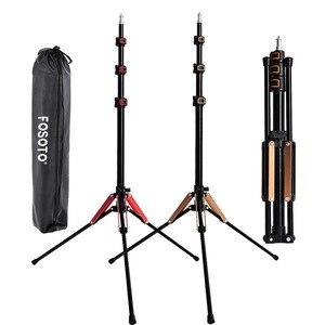 Image 1 - Fosoto ft 195とledライト三脚スタンド1/4ネジ写真スタジオ写真照明フラッシュ傘用キャリーバッグリフレクター