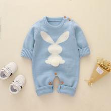Детский трикотажный комбинезон с длинным рукавом в виде кролика
