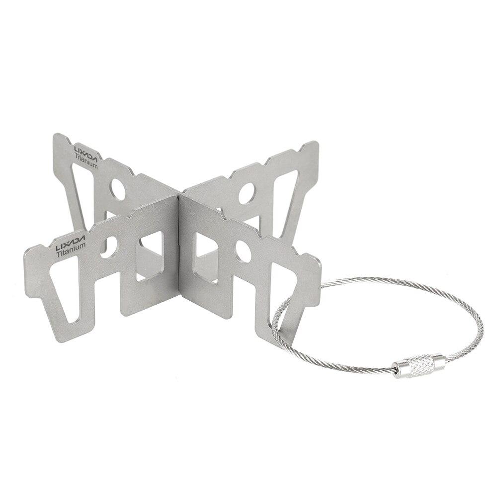 Lixada 3 типа напольная титановая спиртовая плита стойка поперечная стойка Сверхлегкая портативная стойка для кемпинга подставка для печи акс...