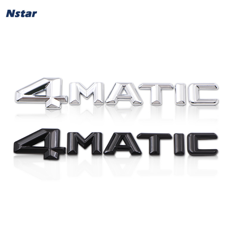 Nstar 1pc 4 Matic ABS Styling Car Badge Auto Part Accessories Boot Trunk Tail Emblem For CLA260 S400L GL400 S350L 149