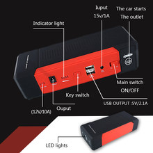 Ultrasafe Lithium Jump Starter 2000A Piek Amp Batterij Booster Real Capaciteit 20000Mah(China)