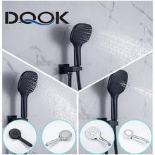 Bathroom shower head big panel 3 modes ABS round Chrome Water-Saving Nozzle G1/2 Bath Shower Adjustable black Shower head