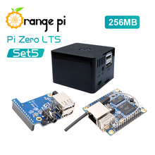 Orange Pi Zero LTS 256MB+Expansion Board+Black Case, With Low Running Temperature and Low Power Consumption Mini Single Board