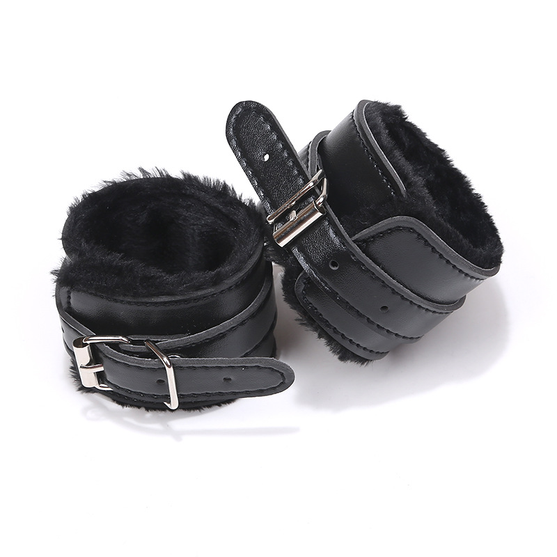 Couple Firting Handcuffs Toys PU Leather Bondage Handcuffs Flirting Slave BDSM Bondage  Sex Toys For Women Adults SM Games