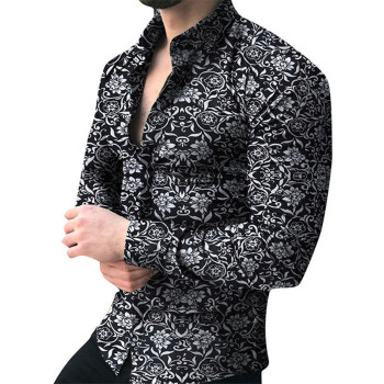 Men brand Long Sleeve Shirt Floral Male Blouse Casual Shirts Summer Autumn Shirts Men top Clothes camisa masculina sale hawaiian shirt men camisa social flower summer long sleeve new model shirts mens floral blouse men clothing