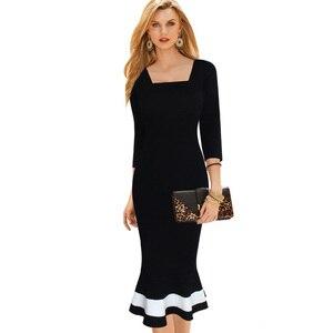 Image 4 - נחמד לנצח בציר טלאים אלגנטיים בת ים vestidos המפלגה עסקי Bodycon נשים שמלת B221