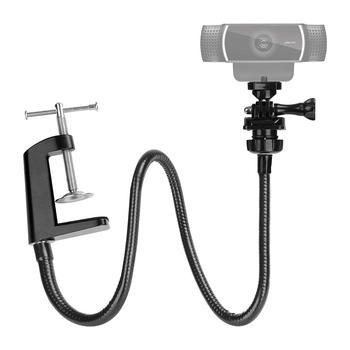 Adjustable Desktop Clamp Suspension Boom Flexible Gooseneck Arm Mount Stand Holder For Logitech Webcam C922 C930e C930 C920