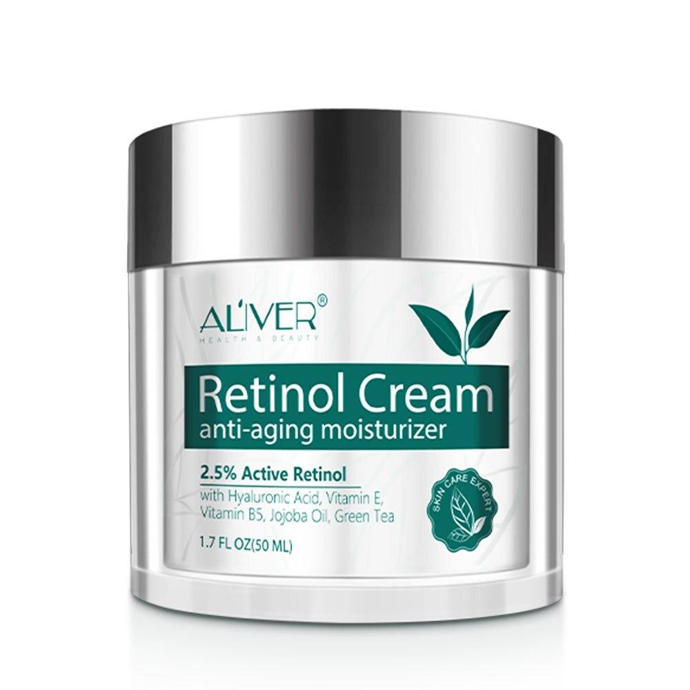 ALIVER Retinol Hyaluronsäure Vitamin A Anti-Falten Creme Feuchtigkeits Creme Pflegende Straffende Lotion