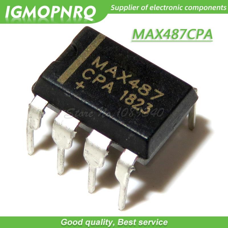 10PCS/lot MAX487CPA DIP8 MAX487 Transceiver