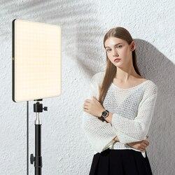 Затемнения светодиодный видео светильник Панель штепсельная вилка европейского стандарта 3200k-6000k фотографии светильник ing для трансляция Ф...