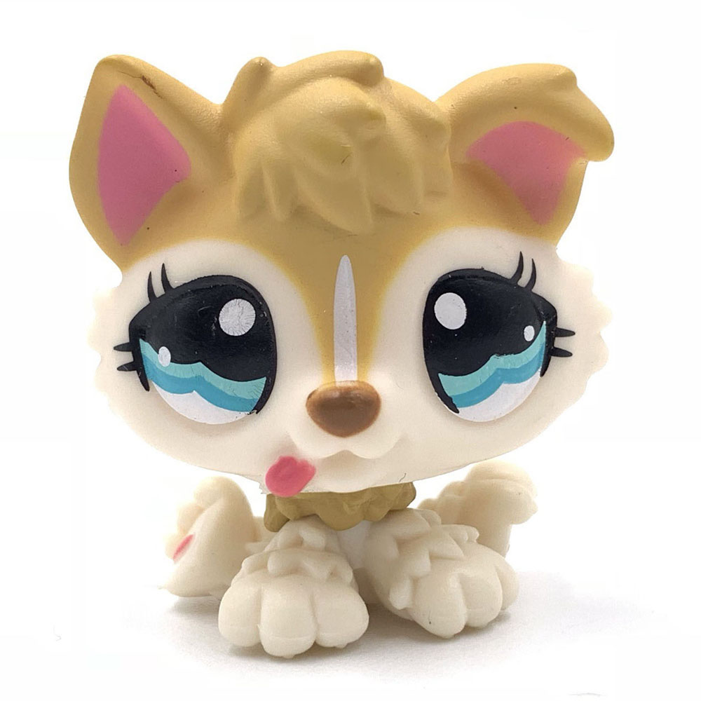 Rare Animal Pet Shop Lps Toys Puppy Dog #1013 Yellow Dog With Blue Eyes Present For Boys And Gifts