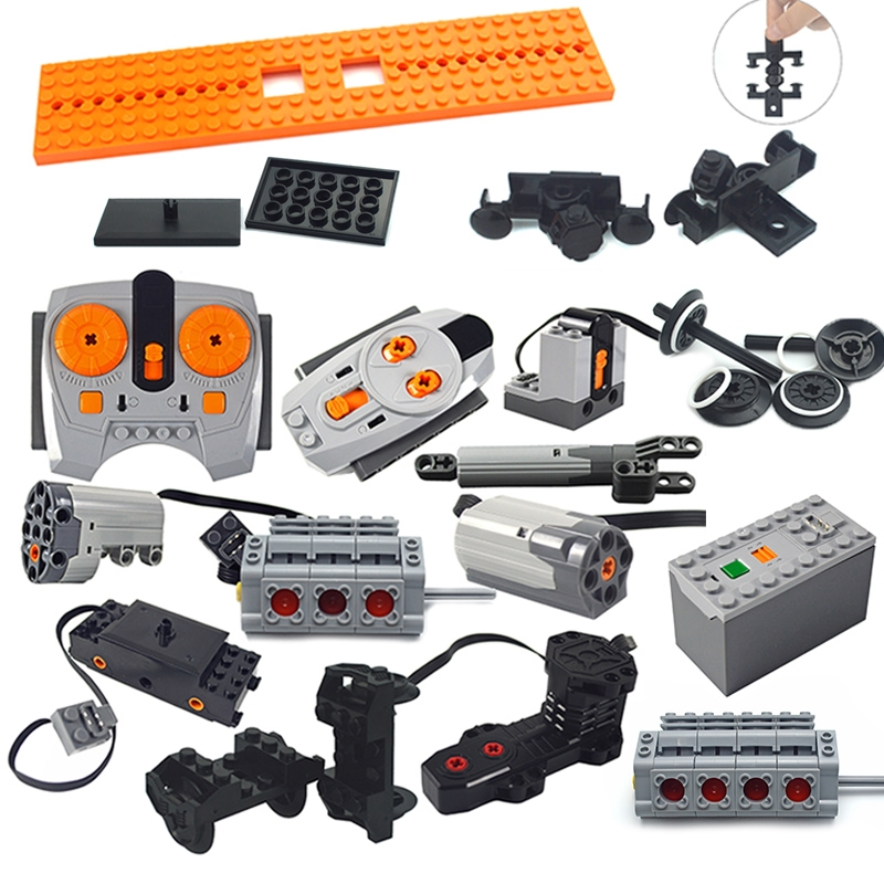 Technic parts Motor multi power functions 8293 8883 tool servo train motor PF model sets building blocks Compatible All Brands