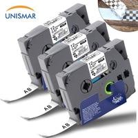 3 fitas de segurança dos pces TZ SE3 TZe SE3 preto no branco laminado para o irmão p touch cube d400 PT D210 PT H110 máquina de escrever 12mm x 8m|Fitas de impressora| |  -
