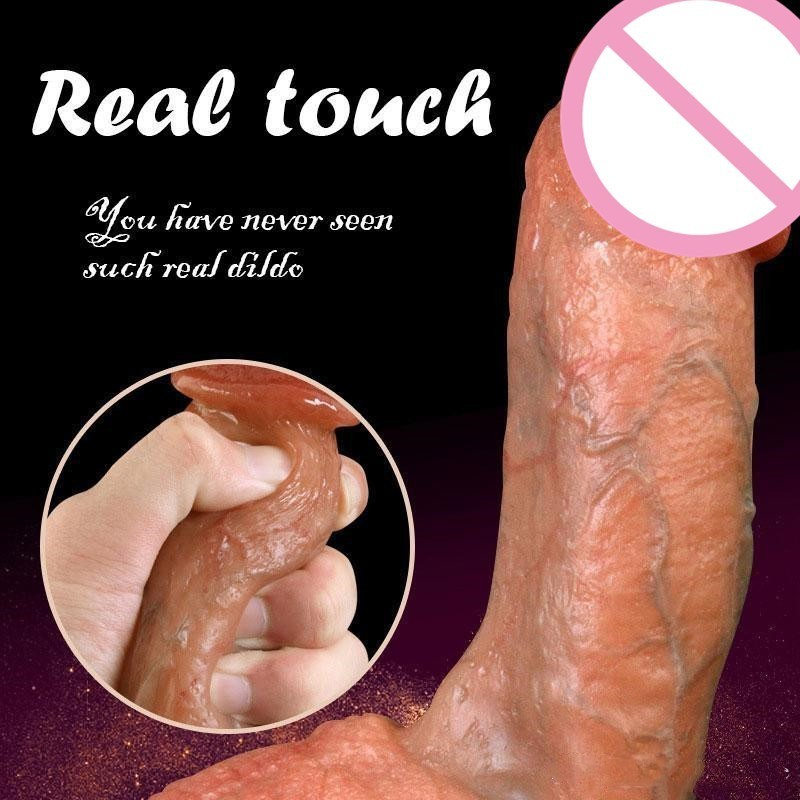 Realistic Diameter 4.5cm Dildo Excellent Craftsmanship Adult Toys For Female Smell Fragrance No Oil Real Skin Touch Sex Toys