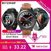 [bluetooth 5.0] BlitzWolf BW-HL2 Smart Watch 1.3 'Touch screen a tutto tondo Frequenza cardiaca O2 Monitor IP68 Impermeabile Uomo Donna Moda Business Smartwatch Fitness Tracker Cinturino braccialetto(China)
