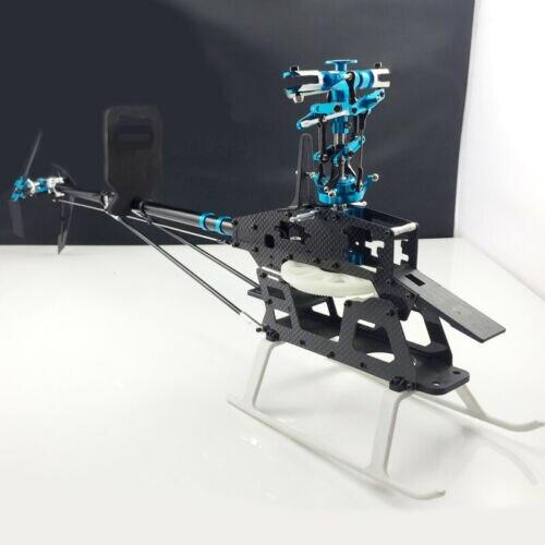 6CH 3D 450 Heli RC Align Trex 450 V3 Sport Helicopter KIT With Carbon Fiber Main Frame