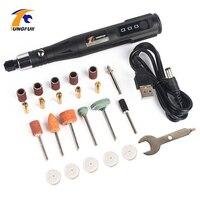 Инструмент Dremel Мини электрическая гравировальная Ручка инструмент для резьбы с полировочными аксессуарами 15000 об/мин набор шлифовальных и...