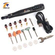 Инструмент Dremel, миниатюрная электрическая гравировальная ручка, инструмент для резьбы с аксессуарами для полировки, набор шлифовальных инструментов для полировки 15000 об/мин