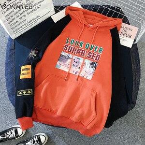 Image 3 - Hoodies Women Lazy Plus Velvet Thicken Letter Printed Womens Pullover Full Sleeve Hooded School Students Ladies Sweatshirts