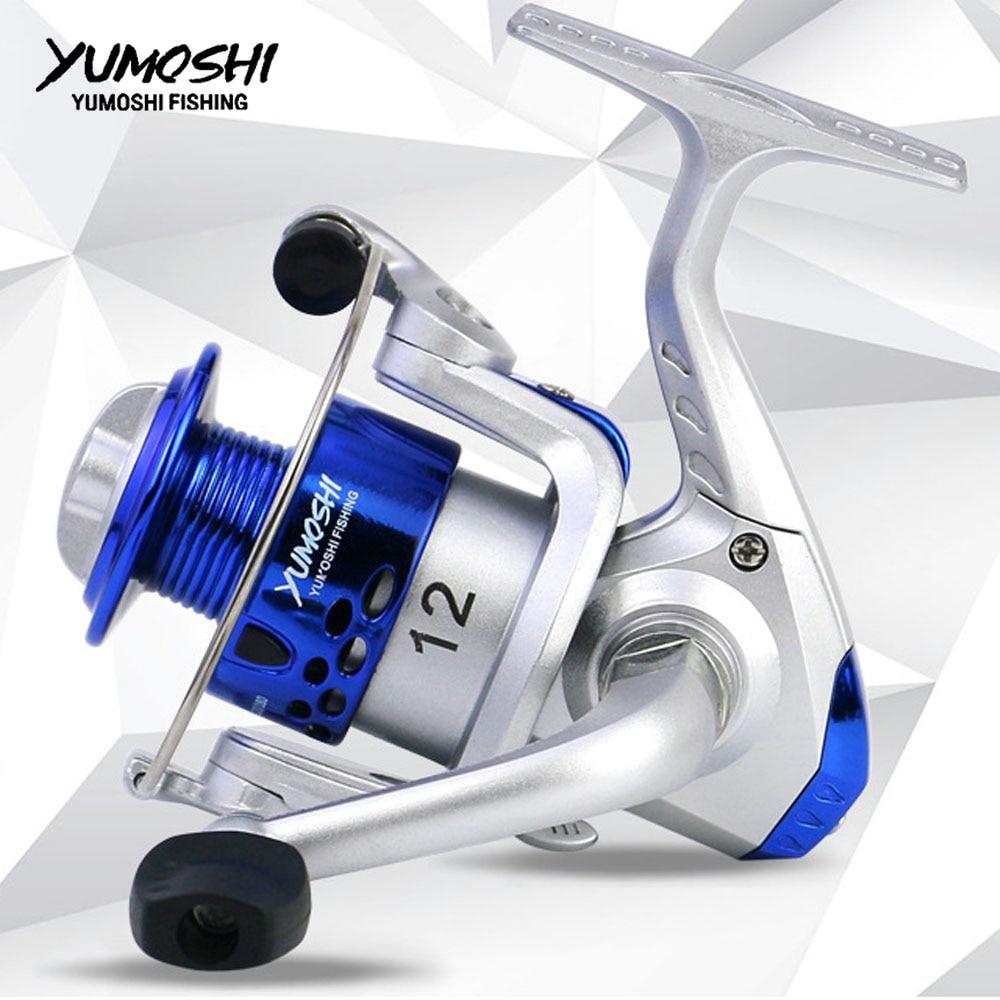 YUMOSHI Spinning Fishing Reel  HC2000A VX2000 SQ2000 Sea Fishing Reel Left/Right 12BB Up 5.5:1 Tackle  Casting Fishing Reel